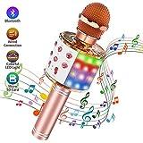 Microphone Karaoké Sans Fil Bluetooth, Portable Micro Bluetooth 4 en 1 avec...