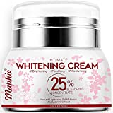 Whitening Cream Professional Skin Lightening Cream for Intimate Sensitive Areas Dark Spot Corrector Bleaching Brightening Cream for Face Underarm Armpit Knees Body with Niacinamide & Arbutin