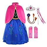 ReliBeauty Little Girls G8180 Retro Princess Fancy Dress Costume with Accessories, 5, Blue