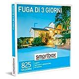 smartbox - Cofanetto Regalo Fuga di 3 Giorni - Idea Regalo per la Coppia - Un Soggiorno di Due Notti per 2 Persone