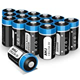 AHJ Piles lithium CR123A 3V 1600mAh, Lot de 16, CR123A CR17345 avec une durée...