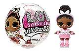Poupée LOL Surprise Star BBs Sports Série 3. Équipe de football à paillettes. Contient 8 Accessoires. Dont une bouteille, des chaussures, une boule qui se transforme et d'autres surprises