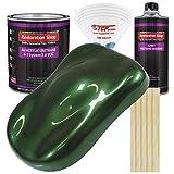 Restoration Shop - British Racing Green Metallic Acrylic Urethane Auto Paint - Complete Gallon Paint Kit - Professional Single Stage High Gloss Automotive, Car, Truck Coating, 4:1 Mix Ratio, 2.8 VOC
