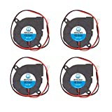 WINSINN 50mm Blower Fan 12V 5015 50x15mm Turbine Turbo Brushless Cooling for DIY 3D Printer Extruder Hotend MK2 MK3 MK7 MK8 (Pack of 4Pcs)