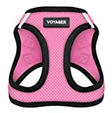 Voyager Step-in Air Dog Harness - All Weather Mesh, Step in Vest Harness for Small and Medium Dogs by Best Pet Supplies, Pink, S (Chest: 14.5 - 17') (207-PKB-S)
