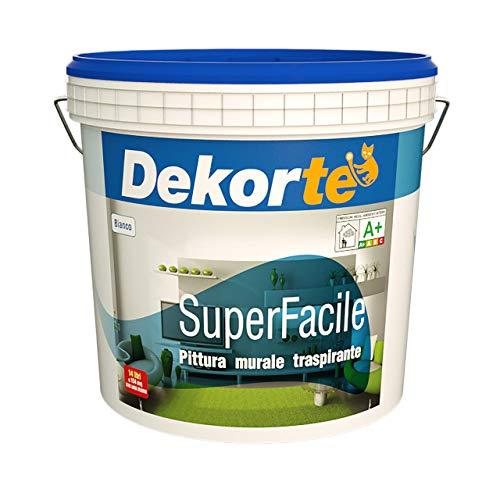 GDM-Superfacile, Idropittura Murale Traspirante, Dekort (14 Litri)