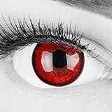 Lentilles couleur rouge noir - vampire red flower. Pour Halloween,...
