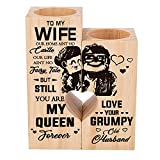 Candle Holder Wife Gifts from Husband - to My Wife You are My Queen Forever - Gift for Birthday, Anniversary