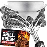 Grill Brush Bristle Free. Best Safe BBQ Cleaner with Extra Wide Scraper. Perfect 17 Inch Stainless...