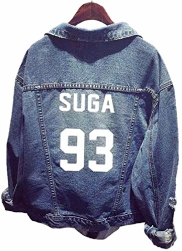 SERAPHY Unisex Sudadera Ropa Chaqueta de Mezclilla para Army Suga Jin Jimin Jung Kook J-Hope Rap-Monster V 93