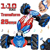 RC Car, NQD 1:10 Large Off Road Remote Control Monster Truck, Gesture Sensing Double Sided Racing Rock Crawler, Stunt Drift Rechargeable Vehicle for Kids & Adults