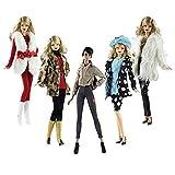 Lance Home 5 Ensemble Vêtements d'automne Robes + Pantalon Chaussures Sac De Mode Chapeau Manches Longues Manteau pour 29cm Poupées Accessoires Bébé Cadeaux de noël Casual Style