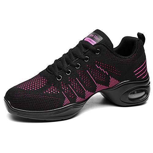 Women's Jazz Shoes Lace-up Split Sole Athletic Walking Dance Shoes Platform