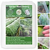 Huouo Garden Mesh Insect Netting, Edge Stitch 10'x20' Garden Bug Enviromesh Netting for Protect...