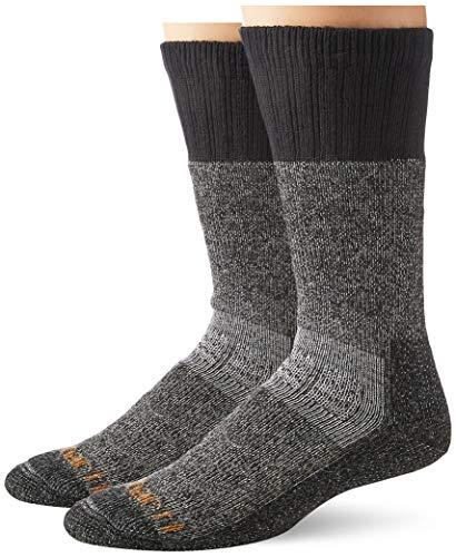 Carhartt Men's LG (US Extremes Cold Weather Boot Socks, BlackHeather,...