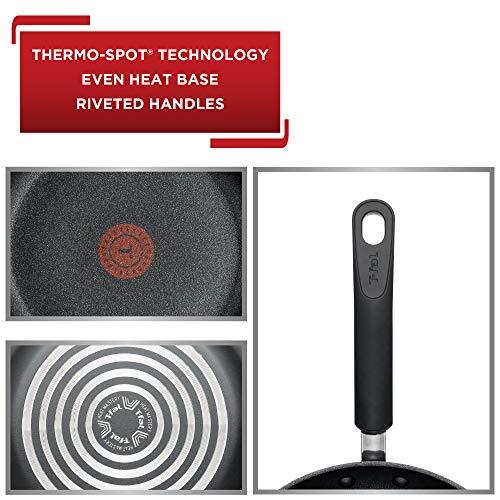 Product Image 3: T-fal C561SC Titanium Advanced Nonstick Thermo-Spot Heat Indicator Dishwasher Safe Cookware Set, 12-Piece, Black