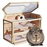 WilTec XXL Grande Cage pour Hamsters Petits rongeurs Souris Rats Bois Grange Étable Abri Animaux