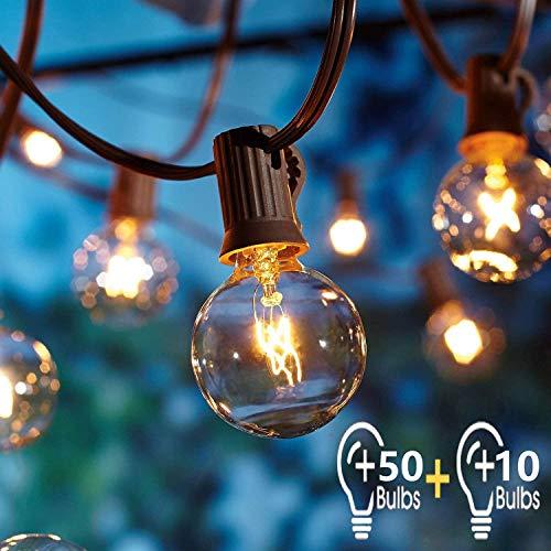 Catena Luminosa Esterno con 16.6m 60pc G40 Filo Lampadine,OxyLED Luci da Esterno Catene Luminose per...