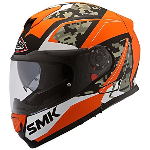 SMK MA271 Twister ZEST Graphics Pinlock Fitted Full Face Helmet With Clear Visor (X - Large)