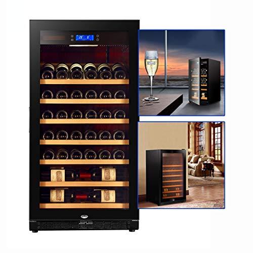 Cantinetta frigo refrigeratore per vino idratante a temperatura costante frigorifero per t a compressore domestico refrigeratore per sigari da ufficio ( Color : Black1 , Size : 60*61*116cm )
