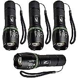 HAUSBELL Flashlight, Tactical Flashlight, LED Flashlight, Flashlights High Lumens, Zoomable, Water...