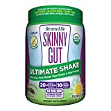 Renew Life Adult Probiotic - Skinny Gut Ultimate Shake Dietary Fiber Supplement - 10 Billion CFU - Chocolate, 14.5 Ounces