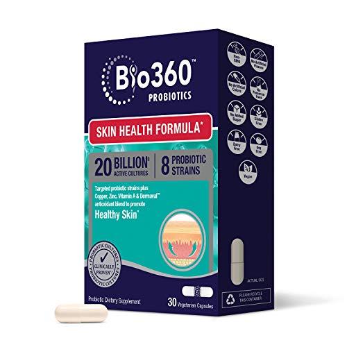 Bio360 Probiotics | Skin Health Formula | Daily Vegan...