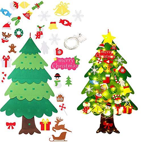 WDEC Fieltro Árbol de Navidad, Árbol de Navidad DIY con 50