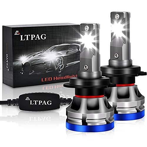 H7 LED, LTPAG Lampadine H7 LED 72W 12000LM Fari Abbaglianti o Anabbaglianti per Auto,12V-24V Nessuna Polarit Kit Lampada Sostituzione per Alogena Lampade e Xenon Luci -2 Anni Di Garanzia 6000K Bianco