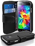 Cadorabo Coque pour Samsung Galaxy S5 Mini / S5 Mini DUOS en Noir DE Jais -...