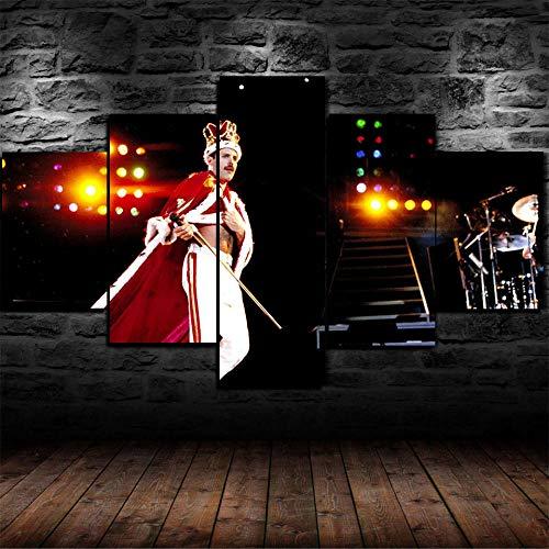 LIVELJ Puzzle-Freddie Queen Mercury/Framed/5 Pezzi Tela su Tela Opera Darte Stampa Immagine...