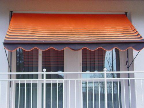 Angerer 2302/200 Klemmmarkise Dralon Nr. 200, Orange, 300 cm