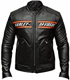 Goldberg Motorcycle Screaming Eagle Black HD Cow Leather Jacket (L/Body Chest = 42' Between 44')