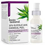 Glycolic Acid 30% AHA Chemical Peel - Blackhead, Dark Spot & Acne Scar Removal & Treatment for Face - AHA Peeling Solution, Professional at Home Facial Exfoliant - Lactic Acid & Vitamin C - 1 oz