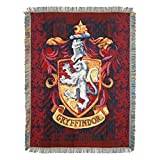 Harry Potter Gryffindor Shield Woven Tapestry Throw Blanket, 48' x 60'