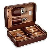 HIZLJJ 4-Sticks hydratant Portable étui à cigares importés de...