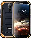 DOOGEE S40 Android 9,0 Télephone Portable Debloqué Incassable, 5,5 '' IP68 / IP69K Smartphone Etanche 4G Double SIM, 4650mAh, Cameras 8MP+5MP, 2GO RAM 16GO ROM, NFC Empreinte Digitale Face ID, Orange