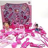 Wghz Kit de médicos para niños Kits de Enfermeras y médicos para niños con Estuche de Transporte, Juego de Juguetes para médicos para niños Juego de Roles de simulación para niños, niñas y niños