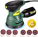 TECCPO Ponceuse Excentrique, 350W, 14,000 RPM, Fourni avec 12pcs 125mm...
