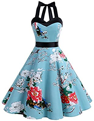 Classic Match: dress & petticoat,If you choose the our dress and petticoat at the same time, there will be a surprise! Comfortable fabric: 98% cotton, 2% elastane! Women Cocktail?Dresses - This 50s rockabilly swing dress is perfect for party celebrat...