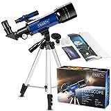 Emarth 70 mm Télescope Astronomique pour Enfants Et débutants, Adulte,...