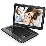 APESIN Portable DVD Player, 14.1 inch Swivel Screen, SD Card Slot and USB Port - Black