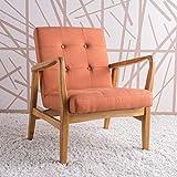 Christopher Knight Home Conrad Orange Fabric Mid Century Modern Club Chair