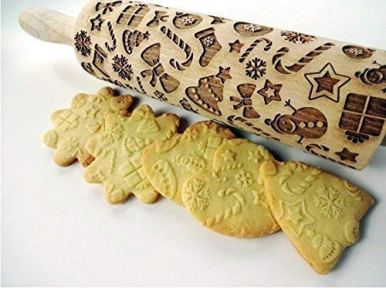 CHRISTMAS-GIFTS-EMBOSSING-ROLLING-PIN-laser-engraved-with-Christmas-symbols-CHRISTMAS-GINGERBREAD-COOKIES