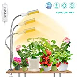 [Upgraded] 90W Plant Grow Light for Indoor Plant,SEZAC 180 LED Timing Full Spectrum Plant Lights Auto On/Off with 3/6/12H Timer 5 Dimmable Levels Brightness & 3 Switch Modes (90W 3 Heads Lights)