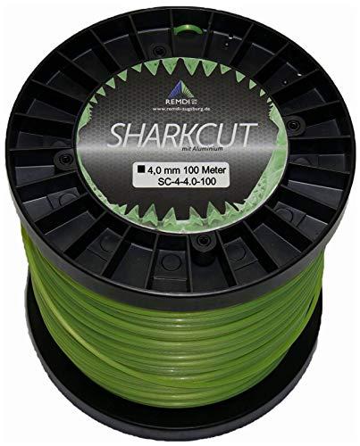 Sharkcut - Filo professionale per decespugliatore in alluminio, filo di nylon, 4,0 mm, diverse...