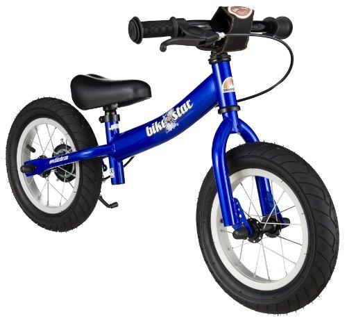BIKESTAR - Bici da corsa con fianco e freno per bambini dai 3 anni   12' Sport Edition   nero (opaco)