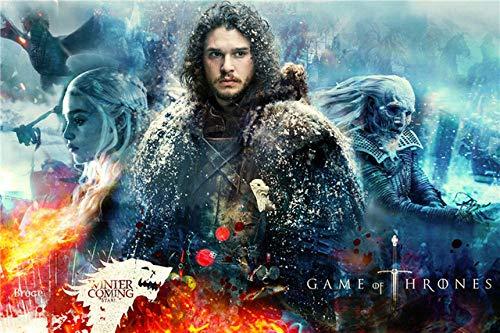 Spetich Game of Thrones in Legno 1000 Pezzi Puzzle Puzzle Personalizzati John Snow Adolescenti...