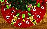 DIMENSIONS Crafts 72-08270 Needlecraft Reindeer Joy Tree Skirt in Felt Applique