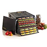 Excalibur Food Dehydrator 9-Tray Electric with Adjustable Thermostat Accurate Temperature Control Faster Drying, Black